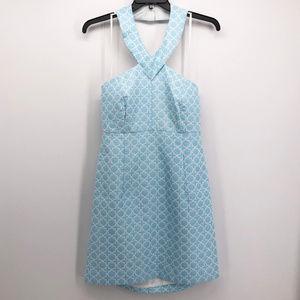MICHAEL Michael Kors Aegan Blue Tile Halter Dress